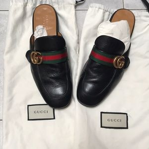 d240b6aeb17 Gucci Shoes - GUCCI MEN Princetown leather slipper with Double G